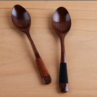 Naturale Solid cucchiaio di legno Binding Discussione Caffè Miele Cucchiaio protezione dell'ambiente da tavola I bambini Mestolo Factory Direct 3YG E2