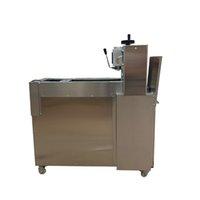 Entièrement automatique machine de découpe d'agneau d'agneau en acier inoxydable machine à rouleau double-coupe CNC trancheuse de porc pour vendre