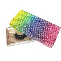 13styles Алмазный упаковки Box 3D норковые Ресницы Пустые коробки для упаковки Блеск Rhinestone Lashes Case Eye Lashes Пластиковые коробки GGA3554-3