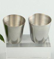 Mini verres à vin en acier inoxydable Lunettes 30ml Gobelets Prise de vue en extérieur à vide Coupes bière tasses à café portable vin Verres & YFA2211-1