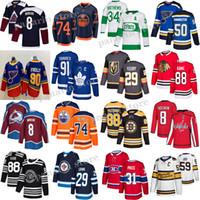 Toronto Maple Leafs Jersey 91 Tavares 34 Auston Matthew Edmonton Oilers 97 Connor McDavid Boston Bruins 88 DAVID PAStrnak Hockey Jerseys