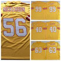 NCAA 40 Mike Alstott Jersey Mens Hardy Nickerson Lee Roy Selmon Warren Sapp Retro Futbol Formaları Sarı Dikişli