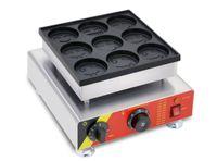 Gülen Yüz ızgara Mini gözleme yapımcısı Hollandalı Mini gözleme poffertjes ızgara makinesi yapma makinesi poffertjes