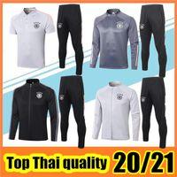2020 2021 Gri Eğitim Takım Beyaz Futbol Eşofman Survetement Futbol Ceket 20 21 Siyah Tam Zip Ceketler Polo Set