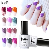 Belen 7ml Snowy Thermal Temperature Change Color Soak Off LED UV Gel Polish Chameleon Color Changing Gel Polish Nail Art