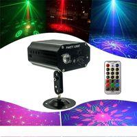 48 Padrões Home LED Disco Light Professional DJ Stage 3 Furos projetor laser luzes partido Music Control Luz Para Casamento Bar