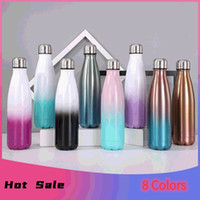 SEA 8 Colors 17oz Cola Shaped Water Bottle with Gradient Col...