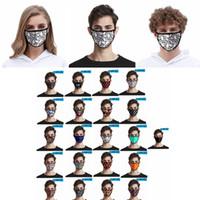 طباعة الجمجمة قناع غطاء الفم الأزهار الغبار الأقنعة الواقية 3D الرقمية قناع الطباعة حلقة الأذن يمكن إعادة استخدامها لCYF4295 الاطفال الكبار