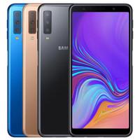 Samsung originali Samsung Galaxy A7 2018 A750F Dual SIM SIM 6.0 pollici NOCTA CORE 4 GB RAM 64GB ROM 24MP sbloccato 4G LTE Android telefono DHL 5pcs