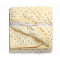Mode Babydecke Fotografie weiche Fleece Empfang Decken Swaddling 75cm * 100cm Neugeborenes Bettwäsche-Set