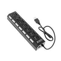 / Kapalı Çoklu 7/4 Port USB Hub 2.0 Hub USB Taşınabilir USB Splitter Çevre Birimleri Aksesuarlar Adaptör Hub Anahtar
