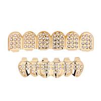 Хип-хоп зубы grillz мода верхняя нижняя часть искусственных зубных зубов скобки грили золотые посеребренные зубы скобка для женщин рэпер корпус ювелирных изделий подарок