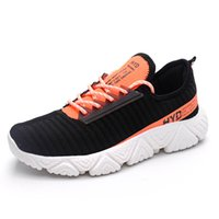 Moda respirável malha Luz Personalidade Walking Shoes Mens Running Shoes Man Esporte Sneakers Voar Weaving Masculino Driving