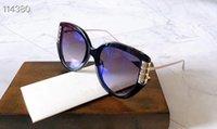 2020 تصميم الأزياء G0389O التغيير التدريجي الإناث النظارات الشمسية UV400 النقي لوحة + برشام المعادن الزخرفية الأوروبية الفاخرة مجموعة كاملة مع مربع