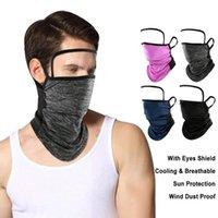 Unisex multifunzionale Bandana Scaldacollo UV / antipolvere Protezione Maschera sciarpa con gli occhi Shield Outdoor Sport Ciclismo Accessori