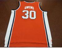Benutzerdefinierte Männer Jugend Frauen Weinlese # 30 Billy Owens Washingtonn Syracuse 1991 Basketball-Jersey-Größe S-5XL oder benutzerdefinierte beliebige Namen oder Nummer Jersey
