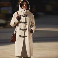 AIGYPTOS 2020 нового красного огнь возраст рог пряжки случайная лама шерсть пальто шерстяного пальто женщина