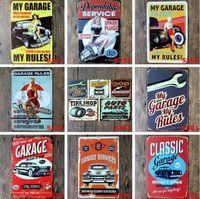 Plaques en métal sur mesure Tin Sinclair huile moteur art mur de décoration Texaco bar maison affiche images vintage Garage signe 20x30cm DHA288