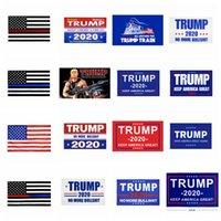 USA ترامب العلم ديكور راية أمريكا مرة أخرى لرئيس الولايات المتحدة الأمريكية دونالد ترامب راية الانتخابات حديقة العلم دونالد 2020 أعلام 90 * 150CM FFA4245