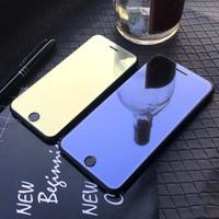Tintado Espejo vidrio templado para el IPhone 11 / 11Pro / 11 proMax X / X XR pantalla XSMax 7P / 8P Anti-Scrath Frente protector de la película de color