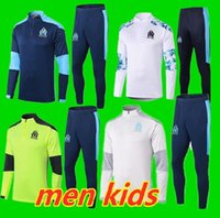 Kit enfants adultes de Foot 2020 Maillots 2021 Olympique de Marseille Survêtements 20 21 Soccer Training Veste de costume PAYET BENEDETTO OM Survetemen