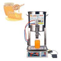 Máquina de enchimento de líquido 1pc automática leite óleo pequena mel doméstico enchimento mel máquina de pesagem de sésamo machi enchimento quantitativa