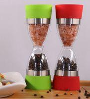 Pepper Shaker Dual соль перец мельница Hourglass Форма специй Grinder Кухня инструмент Соль и Перец Grinder Shaker Mill LJJK2378