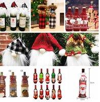 عيد الميلاد الأحمر النبيذ غطاء زجاجة حقيبة حزب عيد الميلاد عشاء الجدول ديكور هدايا زجاجة النبيذ سترة حزب عيد الميلاد زينة LJJK2440