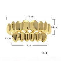 Mens Gold Grillz Teeth Grillz Set 2018 New Fashion Hip Hop J...