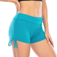 2020 Female High Waist Fitness Shorts Solid Color Shorts Lad...