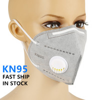 Бесплатная доставка многоразового лицо маска с клапаном серой и белой Пыль Противогаза 5Layers Fliters Защитных масками Рот Обложки