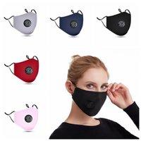 Máscara de respiração Válvula face Dustproof respirável algodão máscara protetora máscaras Unisex lavável reutilizável Ciclismo Sem Filtro Pad CCA12378