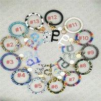 Moda PU Deri Püskül Wristlet Anahtarlık Bileklik Bileklik Kamu Temassız Asansör Düğmesi Koruyucu Aracı Anahtarlık Halka Tutucu E73103