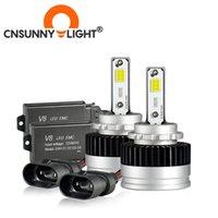 CNSUNNYLIGHT D1S D2H D3S LED Canbus della lampadina 90W / Coppia dell'obiettivo del proiettore del faro dell'automobile D2S D4S D8S 6000K Auto luce 12V 24V Car-Styling