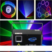 2000MW의 SD 카드 프로그램 레이저 조명 프로젝터 풀 컬러 RGB 애니메이션 디스코 파티 레이저 조명을 보여