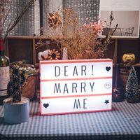 DIY خطابات ضوء مربع البسيطة ضوء مربع A4 حجم LED صندوق DIY سينما صندوق الضوء على حفل زفاف غرفة ديكور المنزل هدية الإبداعية