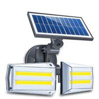 500lm 42 LED Solar Sensor de Movimento Solar Duas Cabeças Luz de Parede Ao Ar Livre Quintal à prova d'água Lâmpada de segurança LED luz solar para jardim ao ar livre Stree