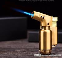 Высокое качество металлический бутан факел пистолет легкий струйный пламя ветрозащитный пополнение сигару зажигалка кухонный инструмент спрей пистолет реактивный пламя легкий DHL бесплатно
