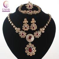 جديد إمرأة النيجيري الخرز الأفريقي الزفاف الملونة مجموعات مجوهرات كريستال مثير الزركون مجموعات مجوهرات القرط قلادة سوار حلقة
