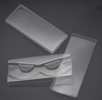 مل 3pcs / مجموعة شفاف الرموش التغليف البلاستيكية صندوق همية رمش علبة التخزين غطاء حالة واحدة مع 2 جهاز كمبيوتر شخصى غطاء شفاف صينية