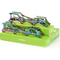 Rockered Typ Inline Skates Rahmen mit 219mm 231mm 243mm Banana Rocking Stützpunkt, 6019 Aluminium-Legierung CNC für FSK-Slalom