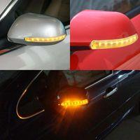Indicador âmbar LEEPEE FPC sinal de volta suave luz amarela 8 SMD Universal Auto espelho retrovisor LED Car Lamp 2PCS Flashing