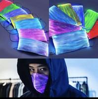 7 LED couleur Lumions Masque fibre Changement RVB Lumière Avec PM2,5 Coussin filtre Carnaval de partie de mascarade masque facial Masque LED fibre optique CCA12321