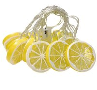 Moda levou tira luz conduzida da corda verão bateria sala de frutas decoração corda caixa de luz de limão Fatia do coração de menina