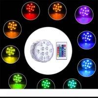 Umlight168 5050 SMD 10 led غاطسة شمعة مصباح التحكم عن متعدد الألوان تحت إناء قاعدة للماء ضوء الزفاف عيد حفل ديكور
