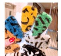 DHL carino finto pelliccia di pin di pin ragazze accessori leopardo triangolo pelliccia triangolo geometrico bb clip laterale clip di parole gioielli