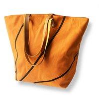 18 Arten Baseball-Taschen-Tasche Leinwand Handtaschen Softball Fußball-Schulter-Beutel Fußball-Druck-Taschen-Baumwollsport Tote Handtasche GGA3587-4