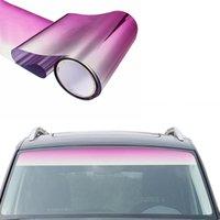 150 * 20cm voiture fenêtre pare-soleil Strip Film teinté Pare-brise avant Protect Ombre bloquant les rayons UV autocollant bricolage Fenêtre Film