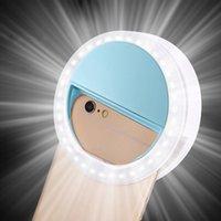 RK12 селй Led Light Ring портативных мобильные селе лампы для Iphone Клип Лампы Selfi Телефон Lampa Na Telefon объектив Фото