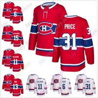 Montreal Canadiens Jersey Ice Hockey 6 Shea Weber 11 Brendan Gallagher 13 Max Domi 15 Jesperi Kotkaniemi 31 Carey Prezzo Taglia S-3XL
